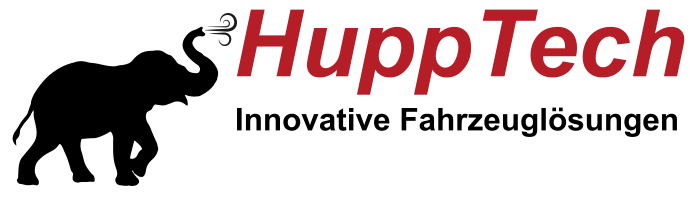 Das Logo der LKW Werkstatt Firma Hupptech aus Hamm